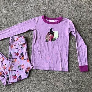 Hanna andersson pajamas Sz 8 Owl purple Halloween